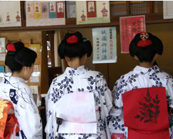 A holiday of Maiko